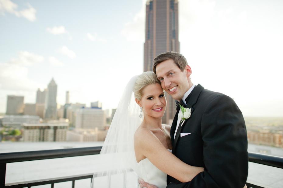 Georgian Terrace Rooftop Wedding Photo