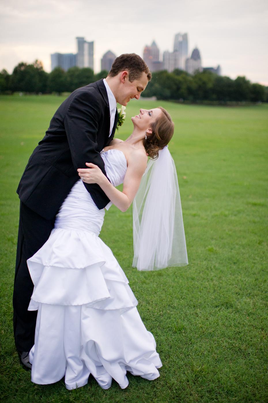 Wedding photos in Piedmont Park