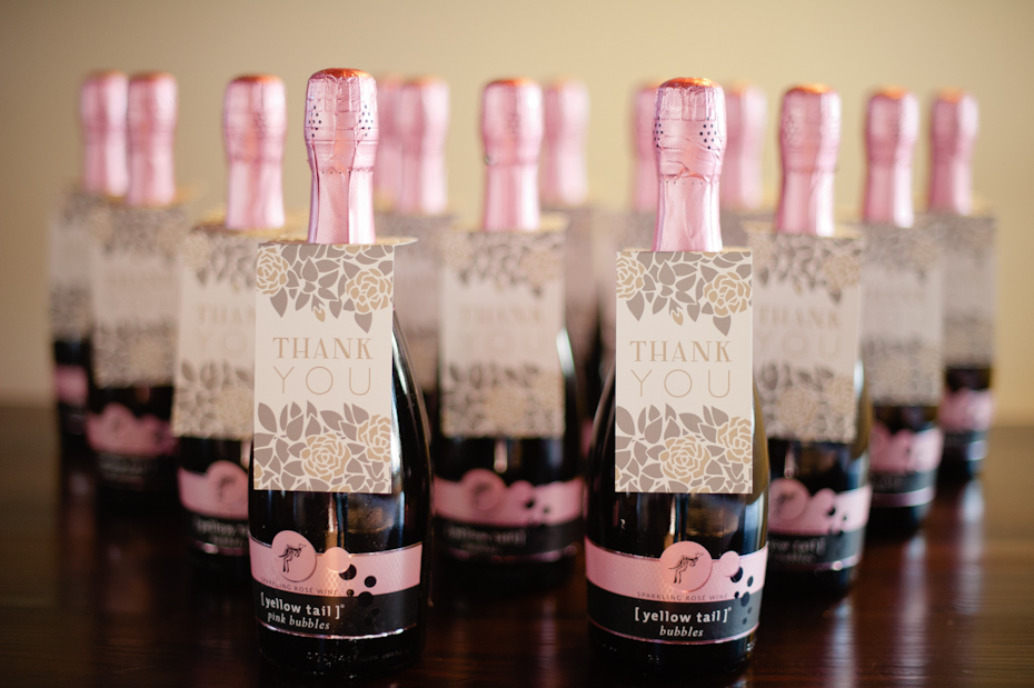 Pink Champagne for wedding guests