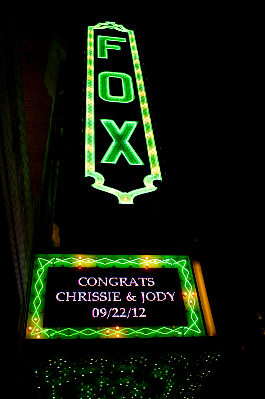 Fox Theatre wedding in Atlanta