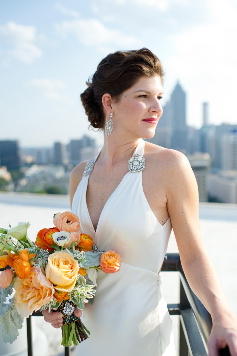 Embellished wedding dress by Jenny Packham
