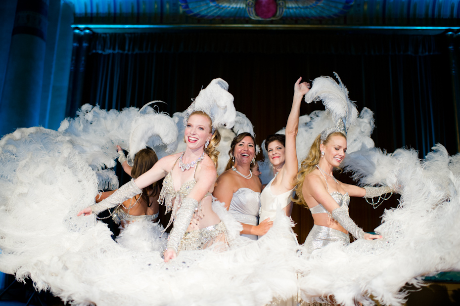Fox Theatre Egyptian Ballroom Wedding with Dames Aflame