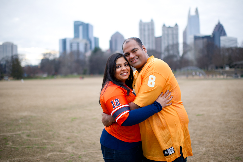 Team Jersey in Engagement picture