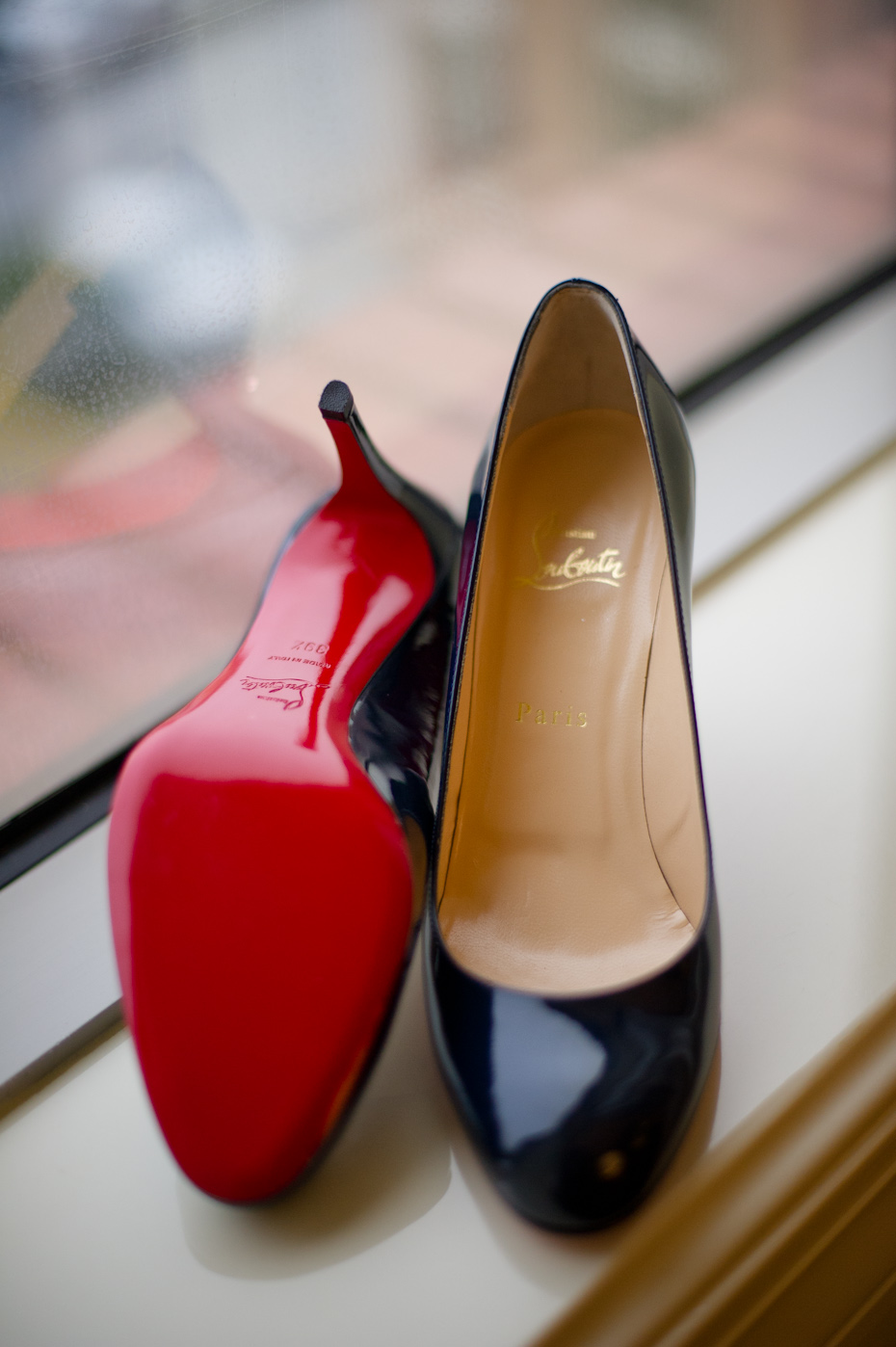 Navy Louboutin Pumps
