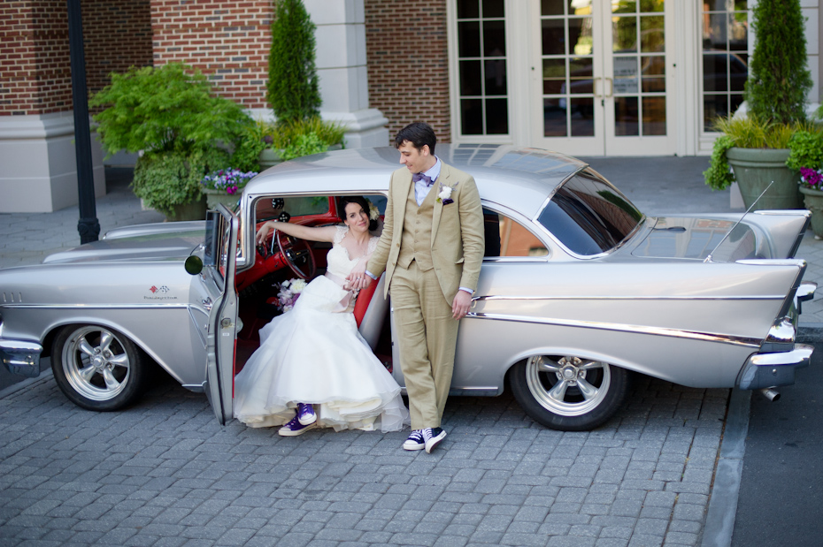 Classic Car at Wedding