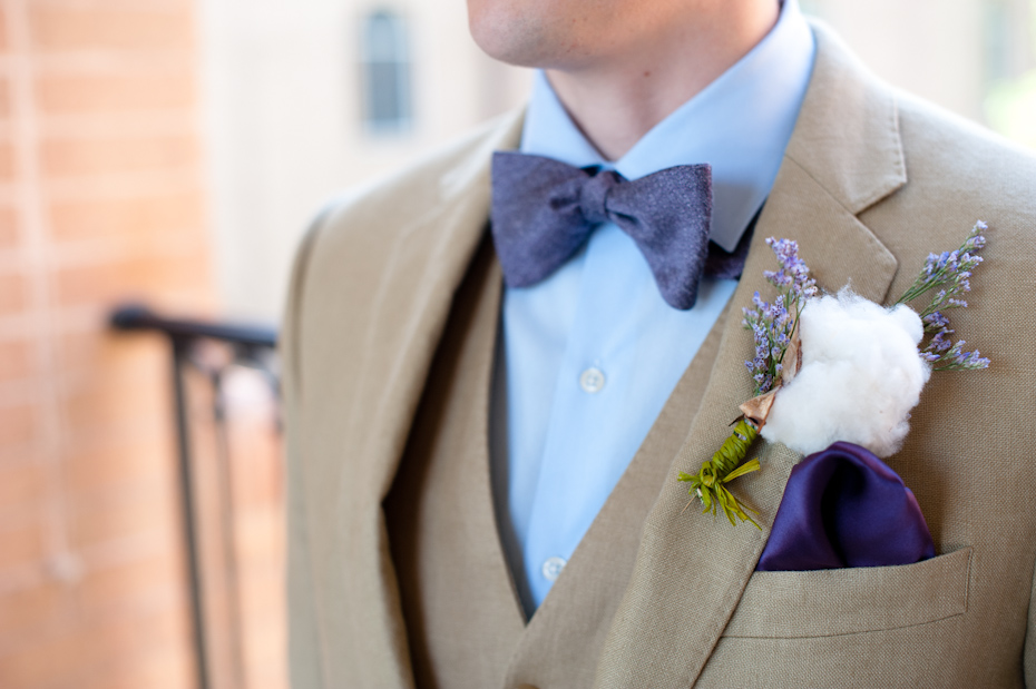 boutonniere with cotton