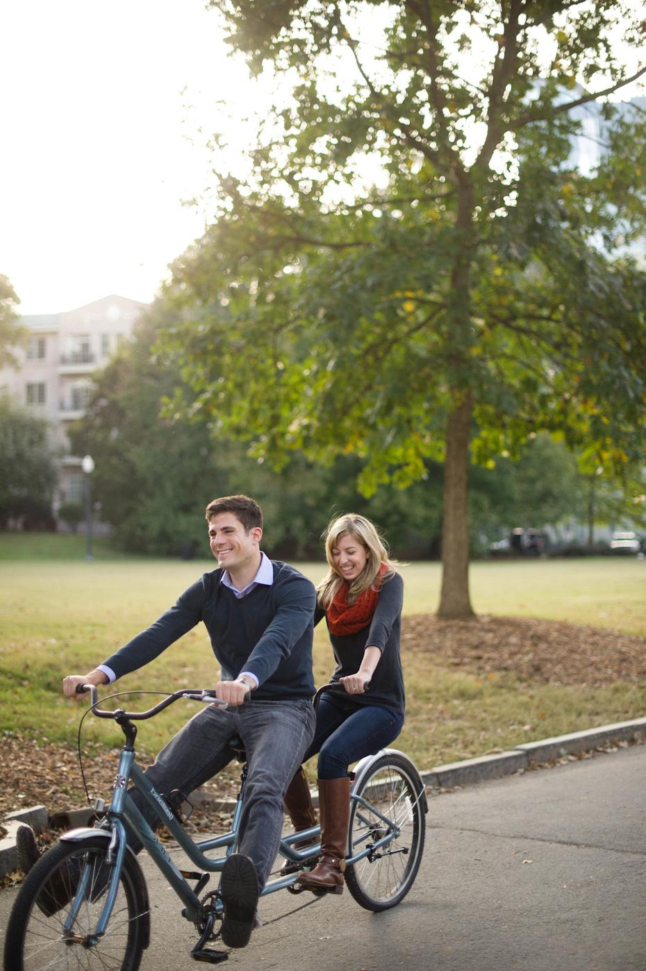 Bike themed engagement shoot