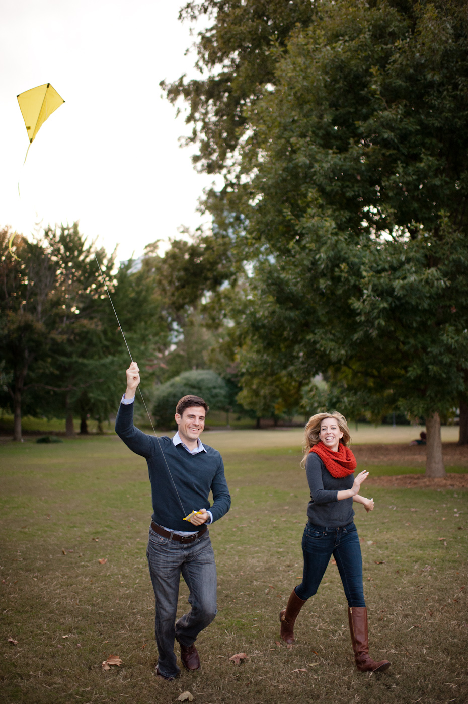 Engagement Photos with kite