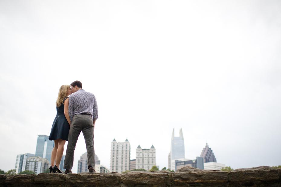 Atlanta Skyline Engagement Photo