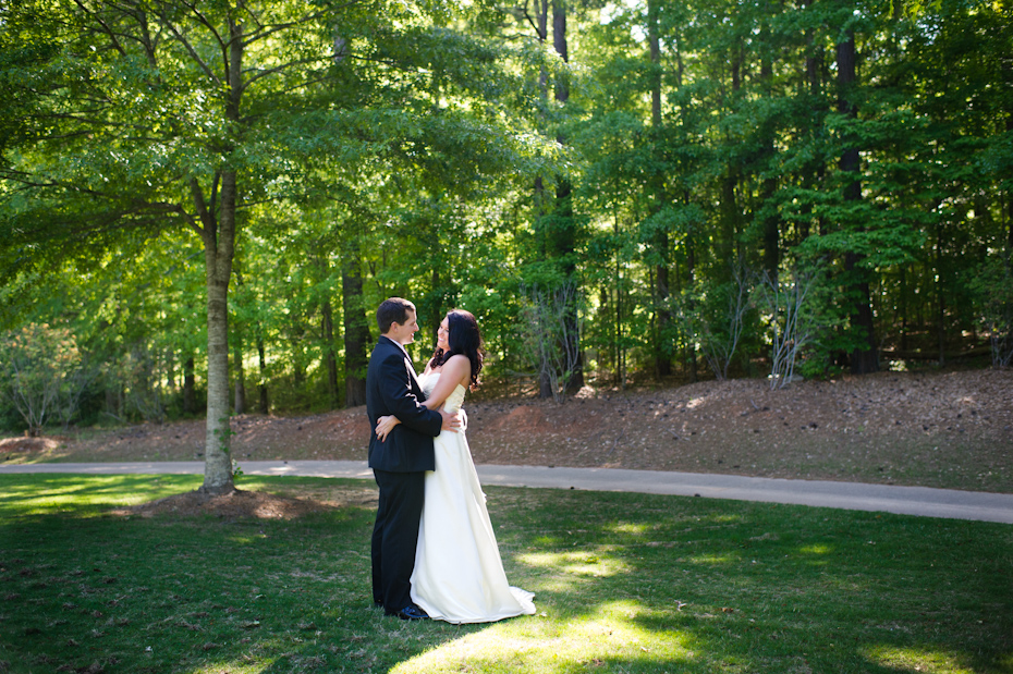 Bride and Groom at Moore