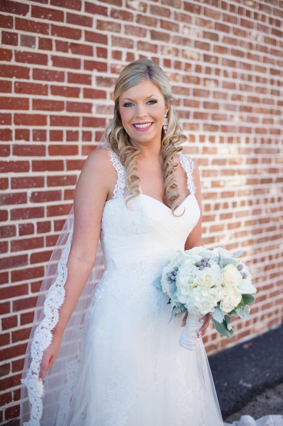 Bride in Pronovias Wedding Dress
