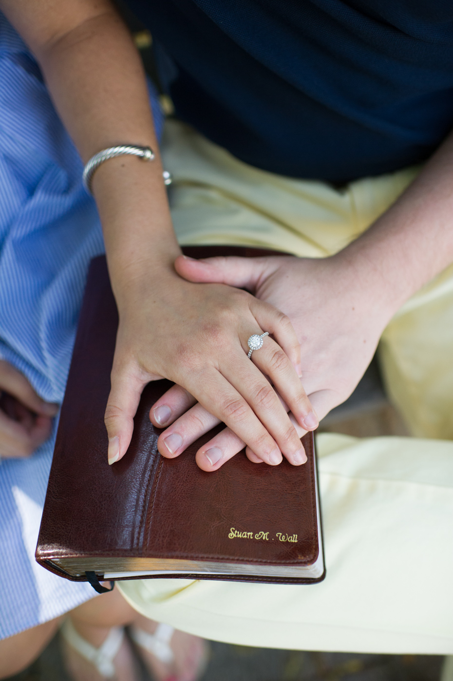 The bible in engagement photos