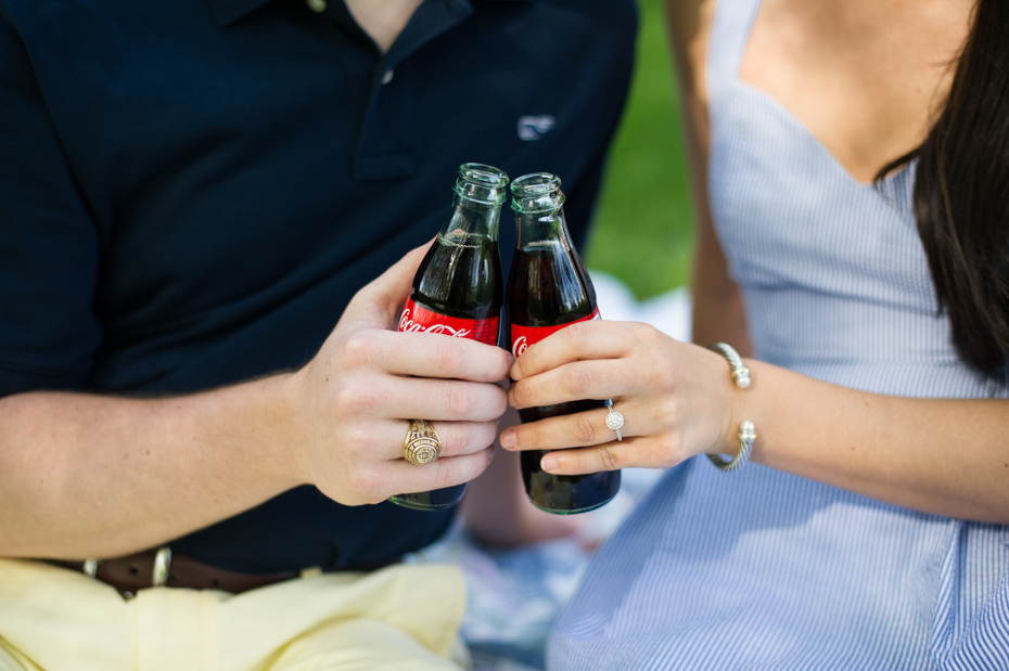 Coke themed engagement session