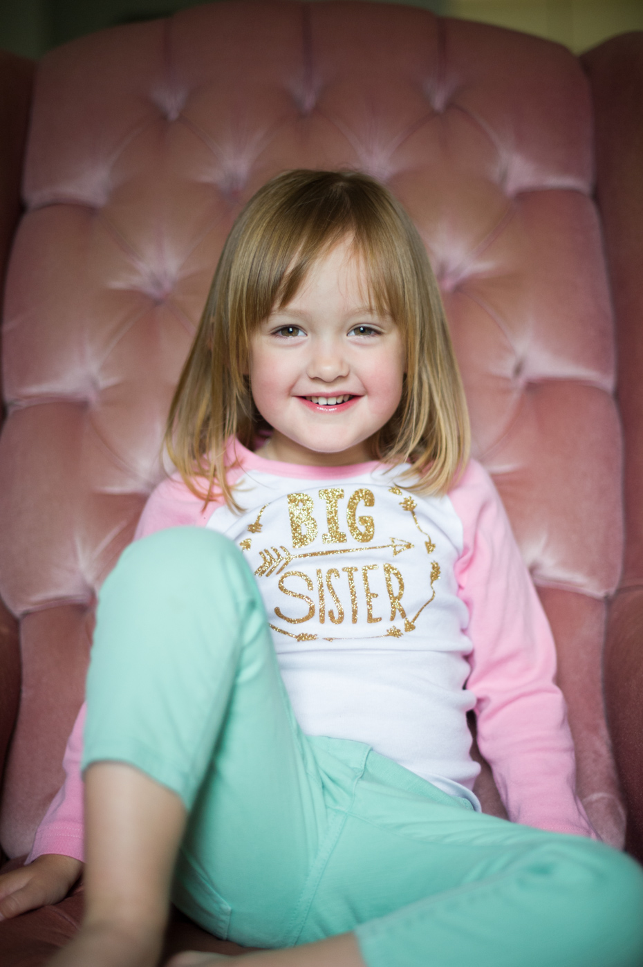 Big sister t-shirt for newborn photos