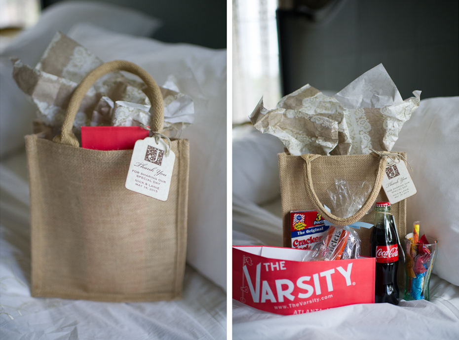 Hotel Wedding Guest Gift Bags: Carl House Wedding By The Studio B Photography