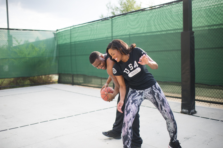 Love and Basketball Themed Engagement Pictures