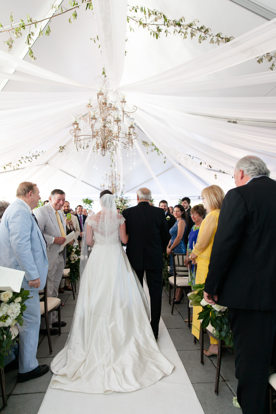 Tented wedding ceremony at Capital City Club Brookhaven