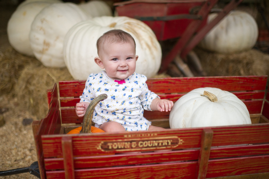 Baby in a wagon