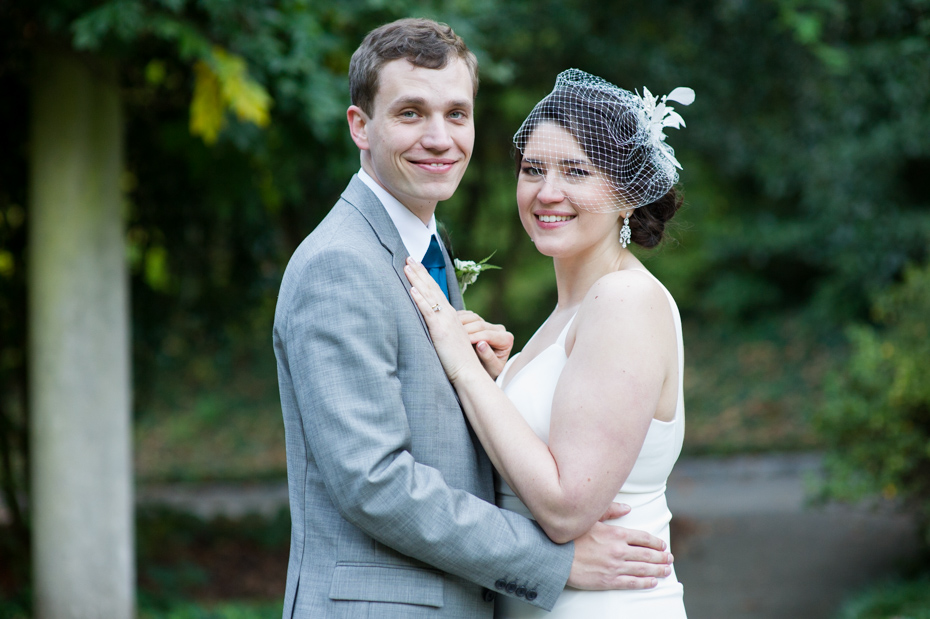 Bride and Groom at Cator Woolford Gardens