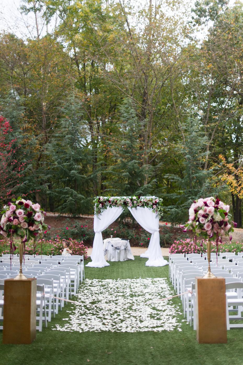 Atlanta Hyatt Perimeter Villa Christina Wedding Ceremony Site