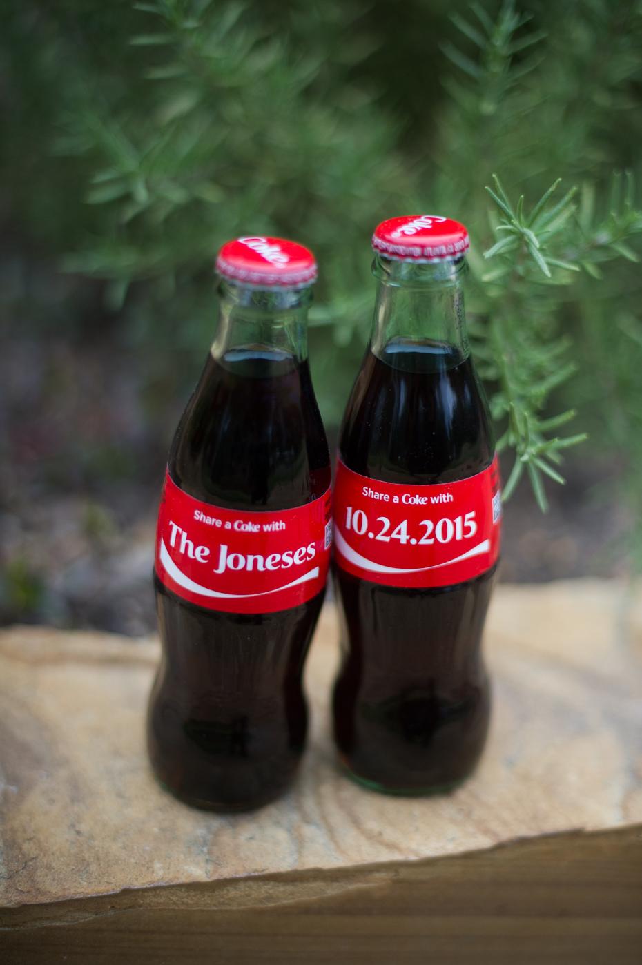 custom coke bottles for wedding