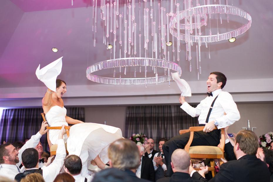 Wedding photos of hora dance