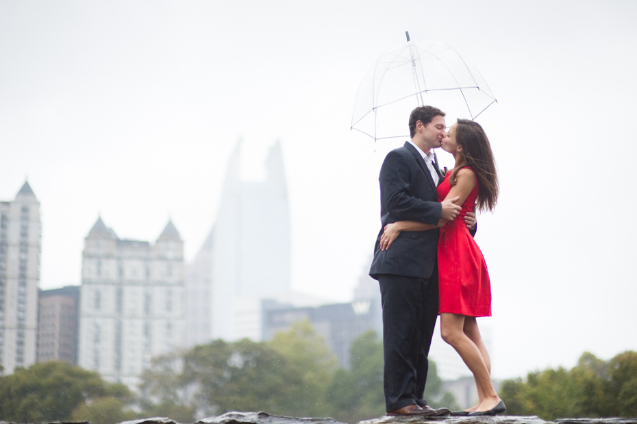 Atlanta Skyline in Engagement Photos