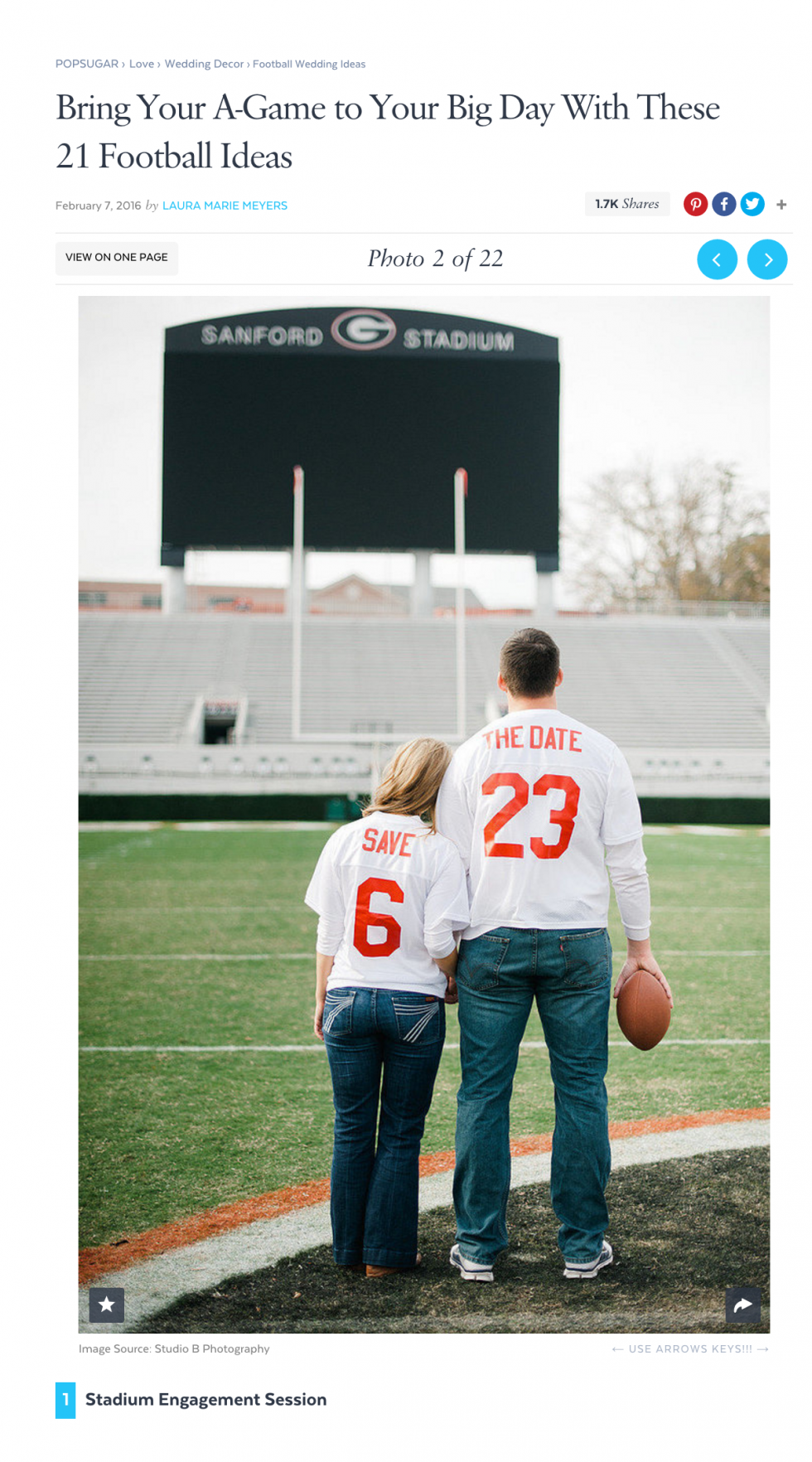 Sanford Stadium Engagement Photos by The Studio B Photography