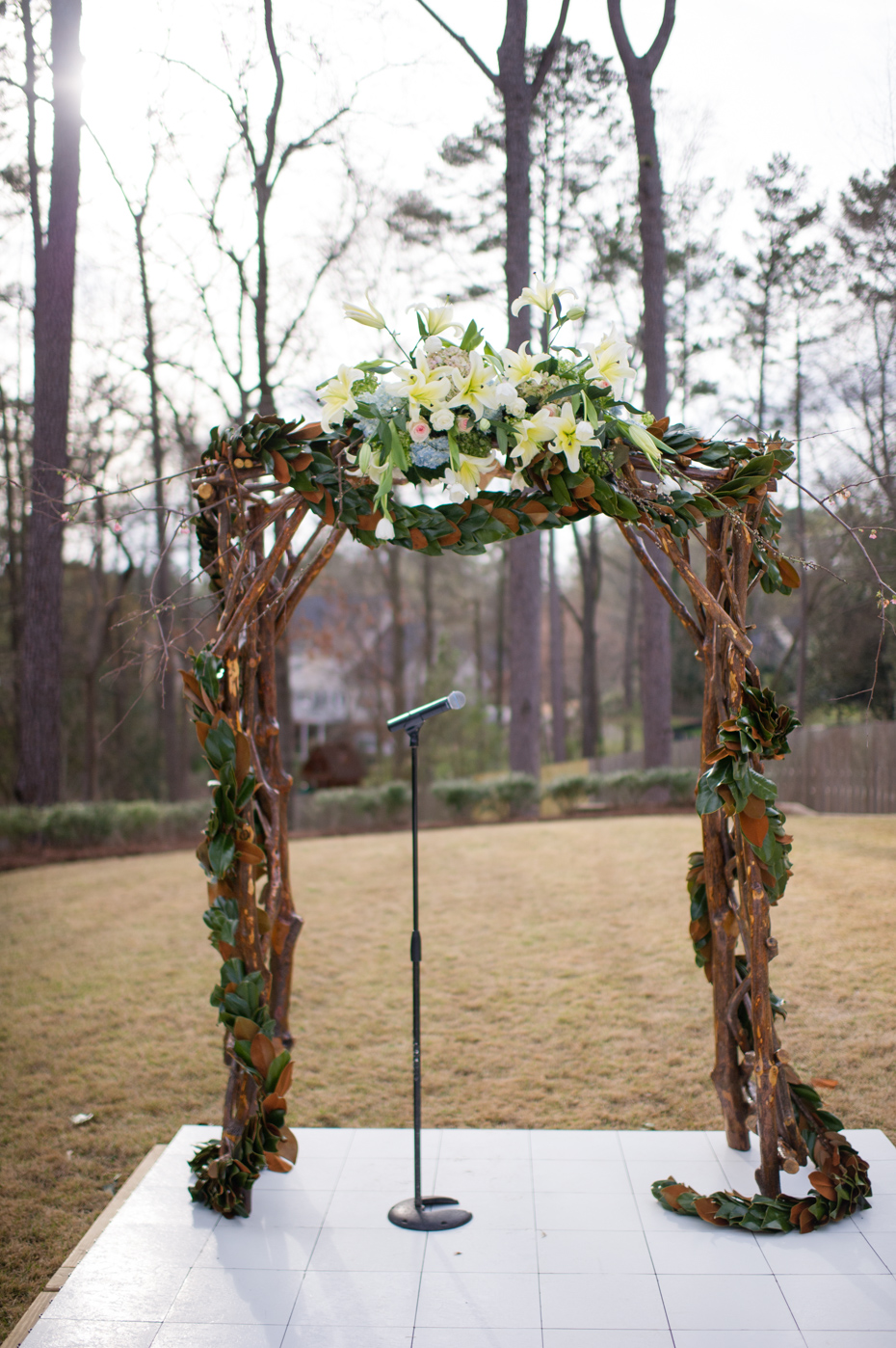 Backyard wedding decor