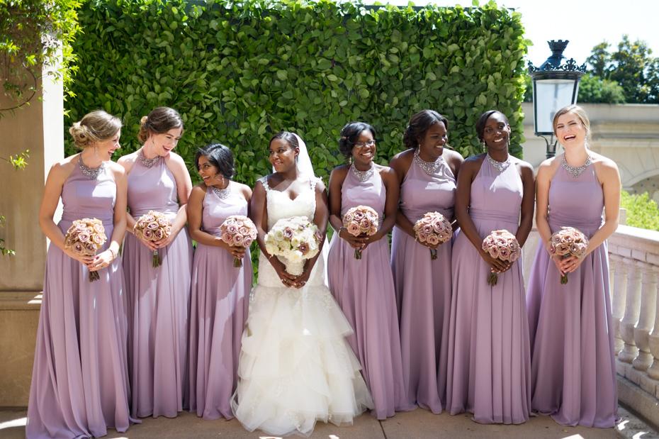 Kristen Merritt and her bridesmaids at the St. Regis Atlanta