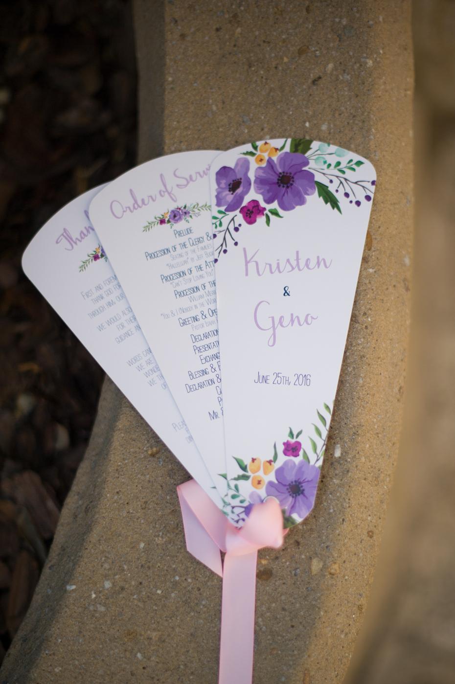 Custom Wedding Fan Programs
