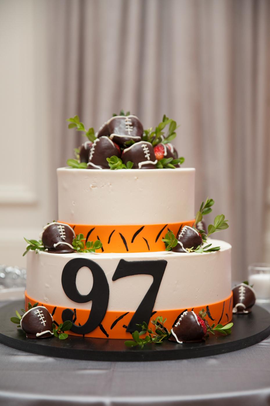 Geno Atkins Cincinnati Bengals Wedding Cake
