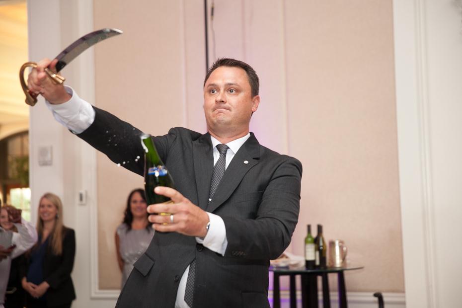 St. Regis champagne sabering tradition