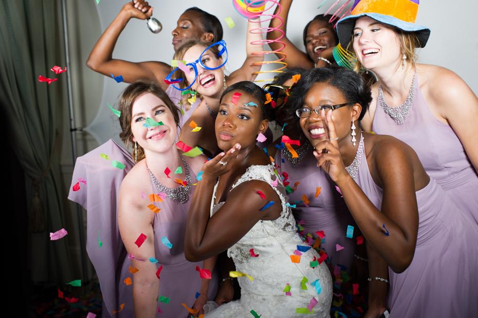 Kristen Merritt and her bridesmaids at wedding
