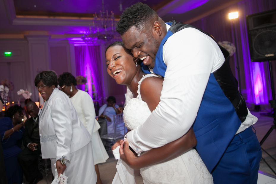 Geno Atkins dancing with his new wife Kristen at their wedding