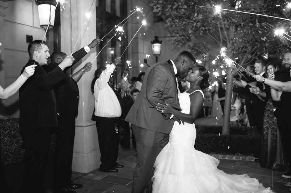 Geno Atkins Wedding Sparkler Exit at St. Regis Atlanta