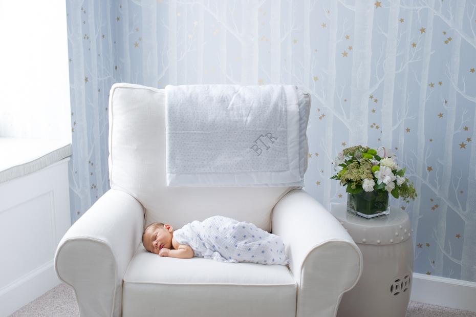 Blue and Cream Nursery for Boy