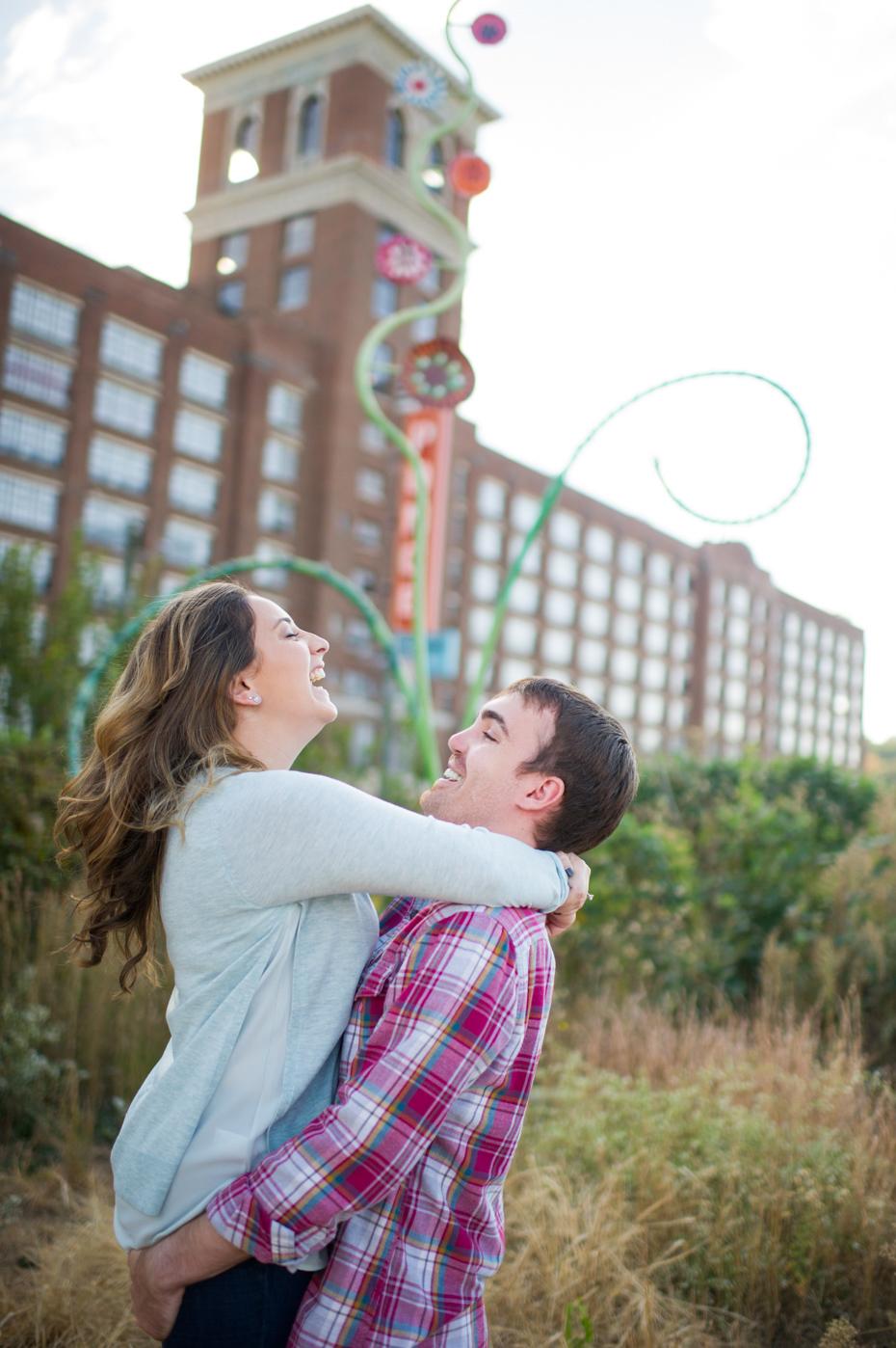 Atlanta Engagement Photos at Ponce City Market