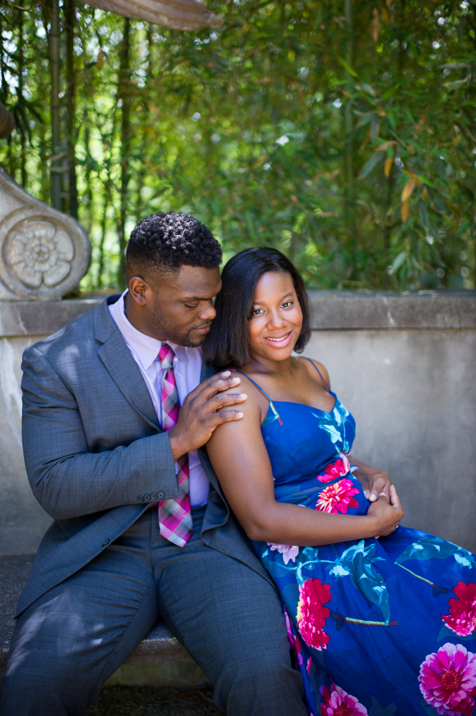 Engagement photos at The Swan House