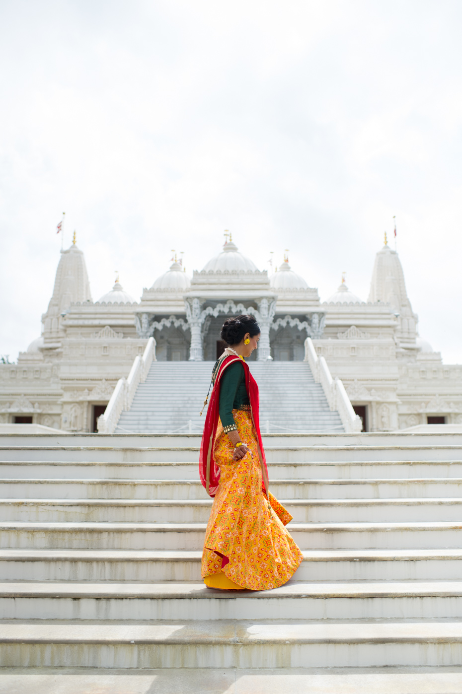 Bride at BAPS Mandir Atlanta
