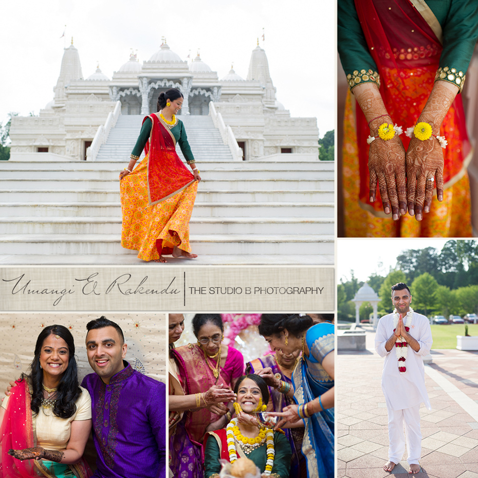 Atlanta Indian Wedding at BAPS Mandir by The Studio B Photography