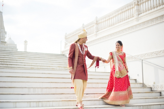 BAPS Mandir Wedding Photos by The Studio B Photography