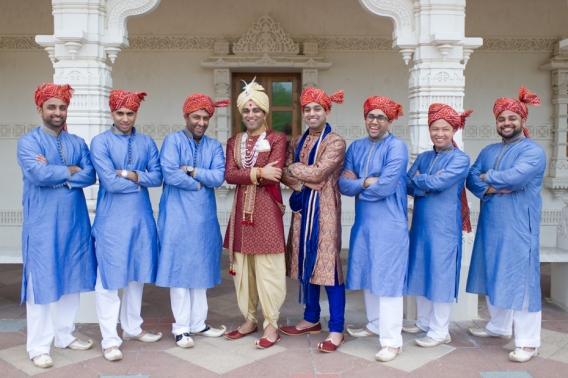Indian Groom and Groomsmen