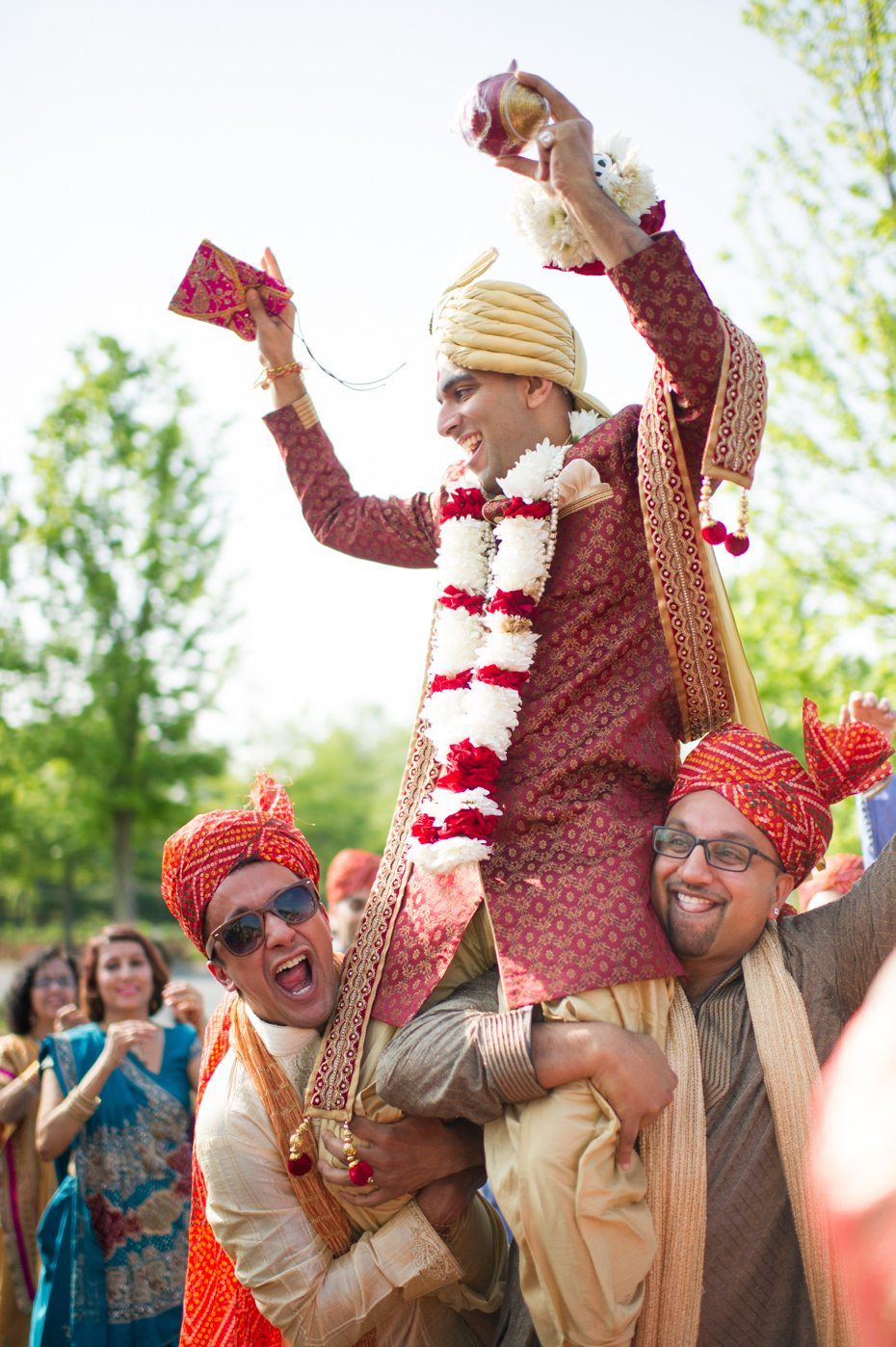 Photos of Baraat at BAPS Mandir Atlanta