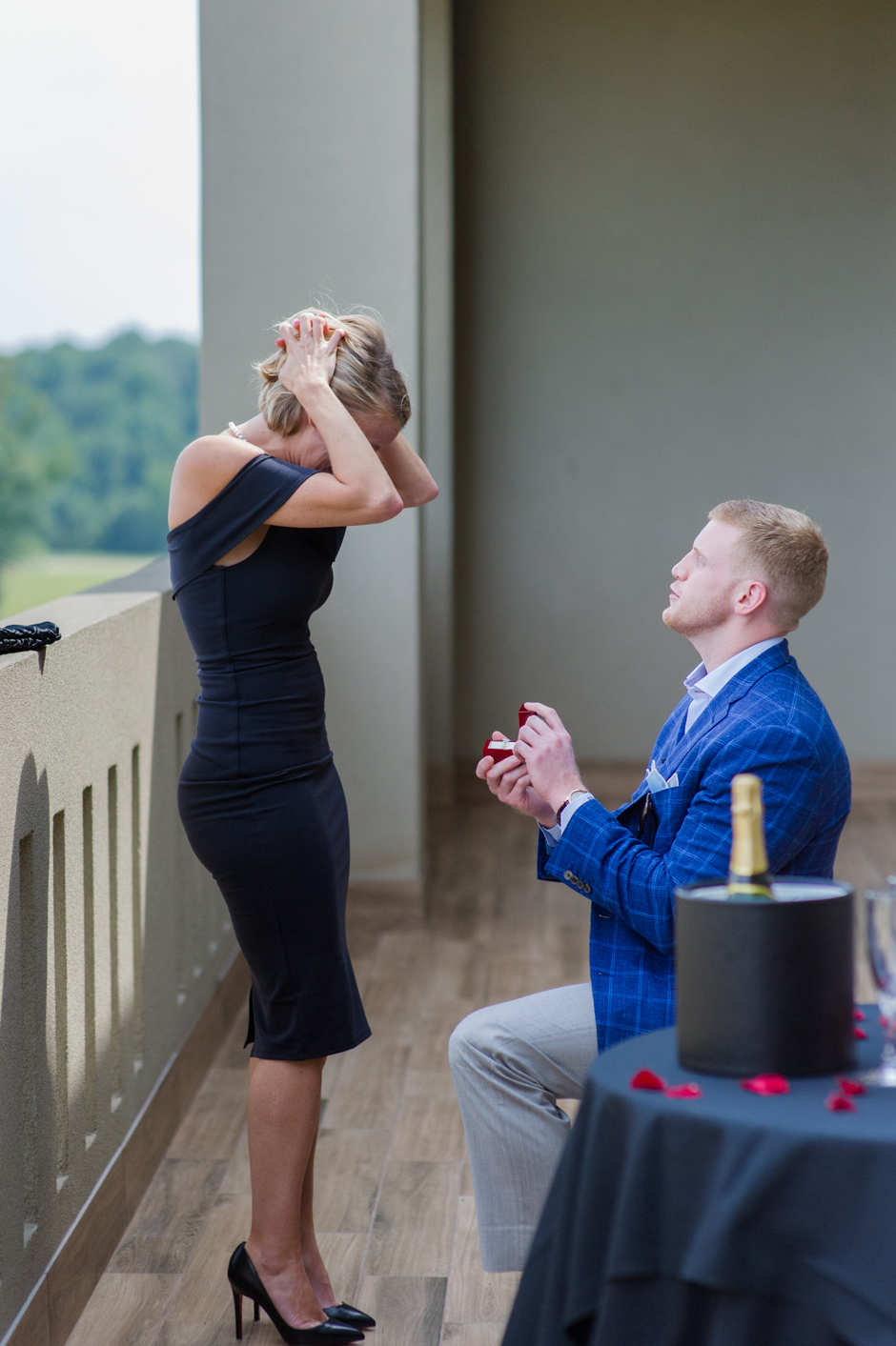 Getting engaged at Chateau Elan